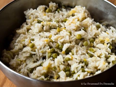 Riz aux petits pois et aux lentilles le gourmand du dimanche - Comment cuisiner les petits pois ...