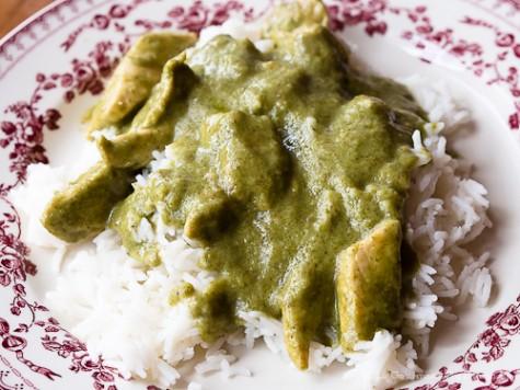 sauce au curry vert et poulet le gourmand du dimanche. Black Bedroom Furniture Sets. Home Design Ideas